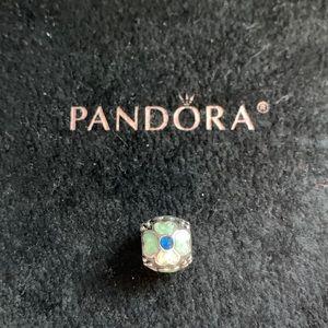 Pandora Jewelry - Pandora Blue Enamel Flower Charm